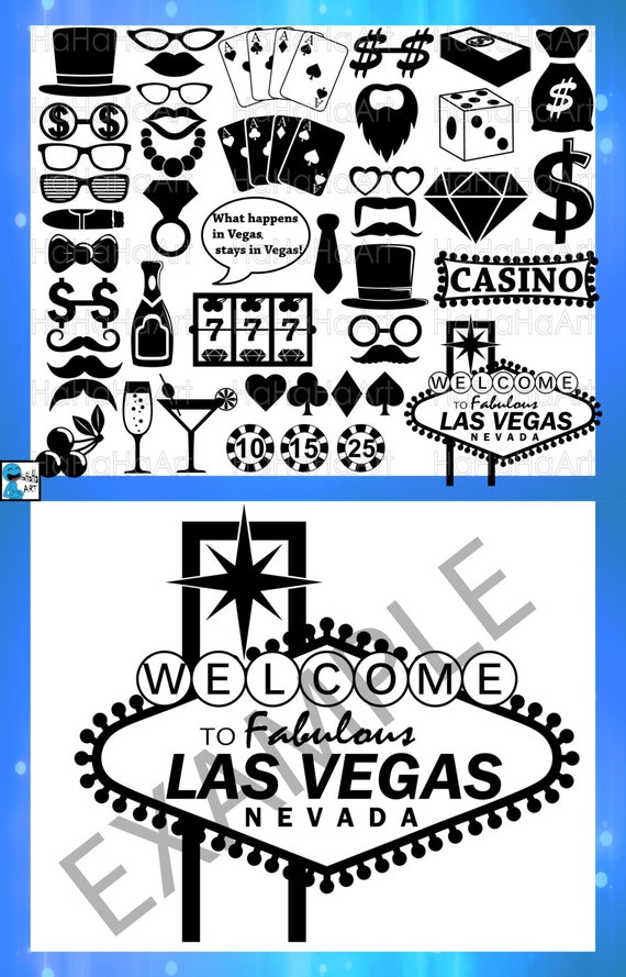 Las Vegas Monogram Cutting Files Svg Png Jpg Eps Dxf Digital