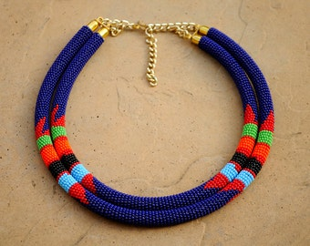 Zulu necklace etsy for How to make african jewelry crafts