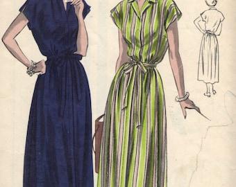 Vintage 1950s Vogue Sewing Pattern 6659 - Misses' Maternity Dress size 14 bust 32