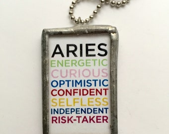 Aries Necklace, Aries Jewelry, Aries Charm, Aries Pendant