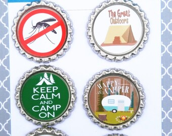 Magnetic Camping Wine Charms