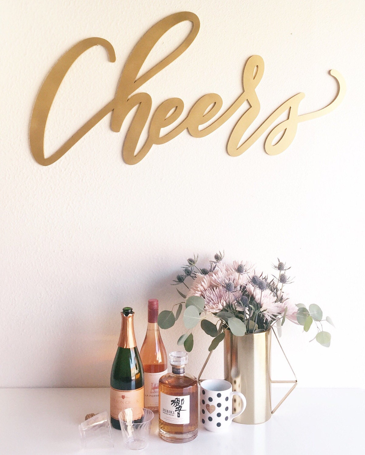 Large Cheers Sign Wedding Sign Backdrop