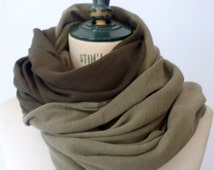 Woman scarf or men scarf, cotton scarf, two-color scarf, double scarf, scarf veil, stole, natural dyeing in clay, scarf for all seasons