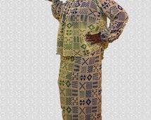 Kente skirt and top, African Print Chiffon dress,Wrap skirts,2 Piece dress,Kente Dress,Formal wear, Print dress,Afrocentric clothing, Prints