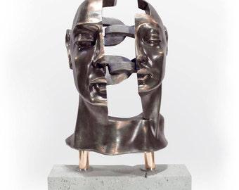 CHÈRES (179). Electrolytic bronze sculpture