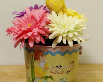 Easter Decor, Home Decor, Spring Arrangement, Easter Decoration, Kitchen Decor,Spring Flowers, Floral Centerpiece