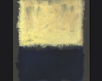 "Color Study of Mark Rothko: Light Earth and Blue - 1954 = 16""x 20""; acrylic on canvas; one of a kind"