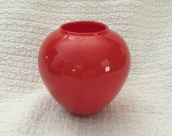 Sugahara Japan Art Glass Vase,Red Art Glass Vase, Craft Glass Vase, Art Glass, Craft Glass, Japanese Craft Glass, Red Vase, Sugahara Glass