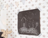 Star Pattern Self Adhesive Removable Wallpaper D004
