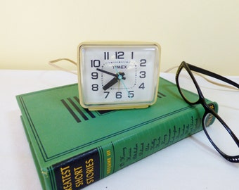 1960s Retro Timex Electric Alarm Clock with Second Hand  / Made in USA Tested / ALifetimeofVintage