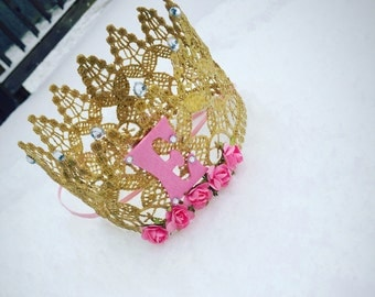 Full size reags lace crown