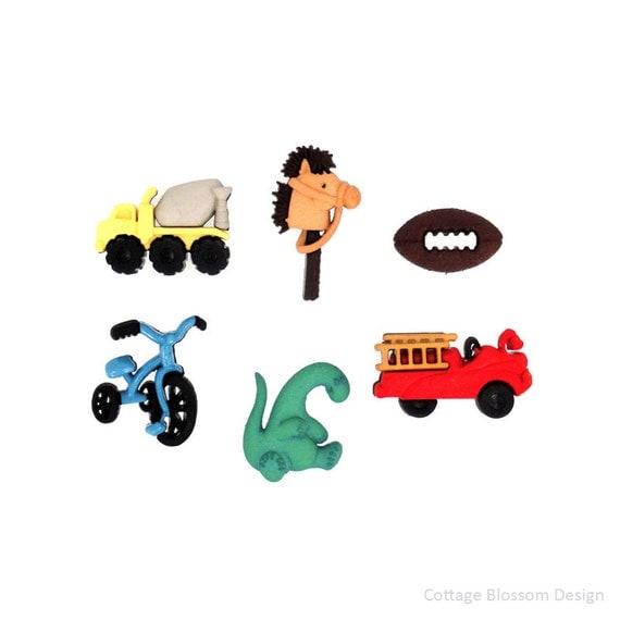 Football Toy Trucks : Boyz toyz jesse james buttons for boys dump truck polo