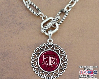 Texas A&M Aggies Rope Link Toggle Necklace - TAM57477