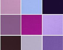 Purple Kona Cotton Lined Valance Curtain with Rod Pocket by Primal Vogue™ - Violet Lilac Raisin Royal Light Purple Geranium - 100% Cotton