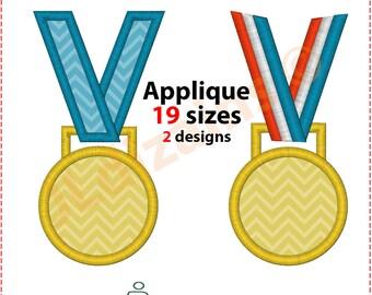 Medal Applique Design. Medal embroidery design. Medal embroidery. Medal monogram Medallion applique Medal applique Machine embroidery design