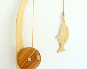 Wooden Fishing Set