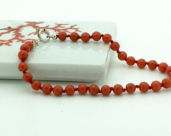 full-bodied red coral bracelet real 1st choice