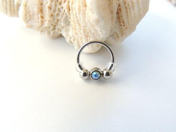 1 PCStainless Steel Circular Horseshoe Ring Nose Hoops ... |Septum Piercing Horseshoe Ring