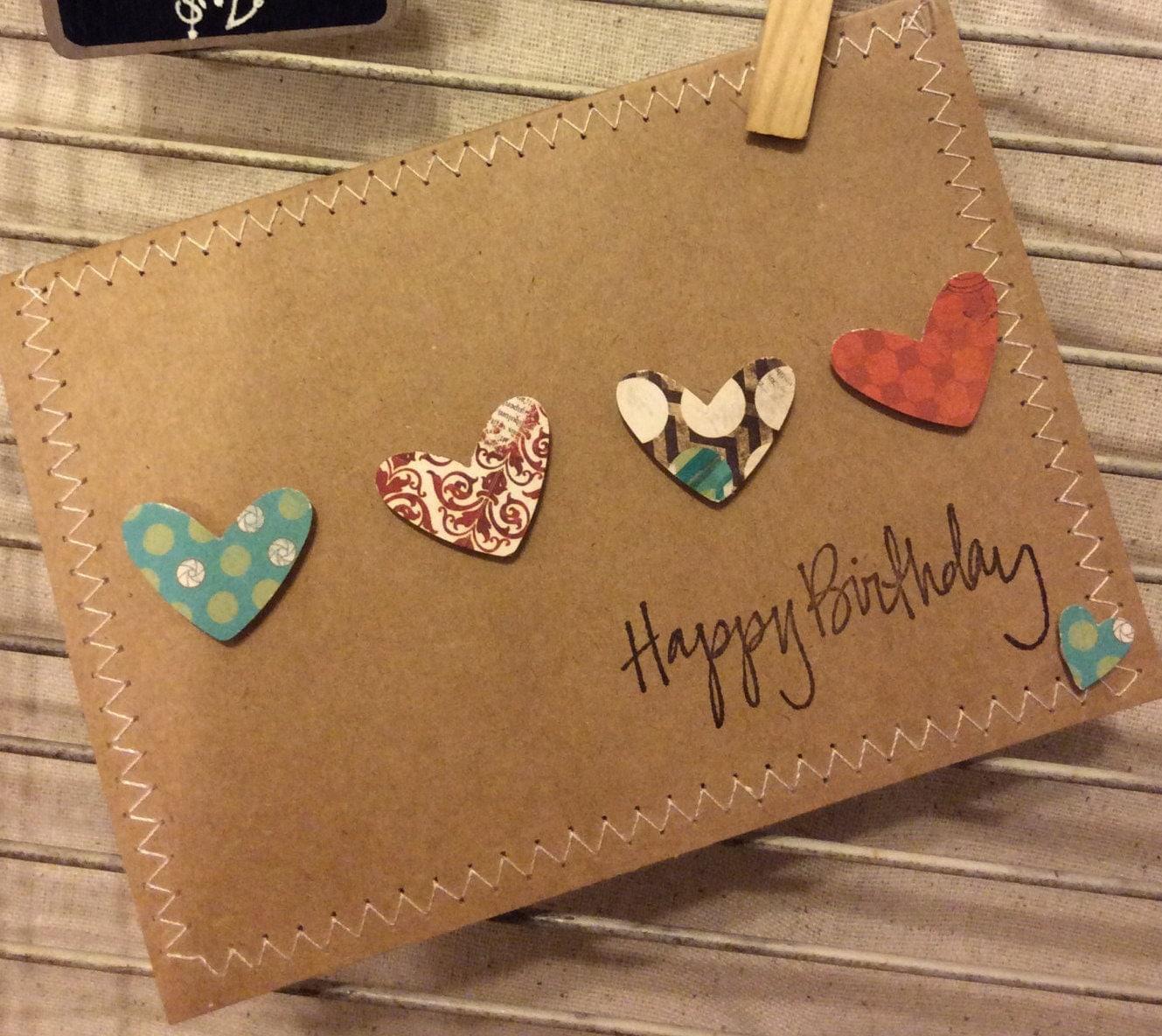 Homemade birthday card for Selbstgemachte geburtstagskarten
