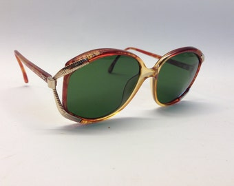 Vintage 1980s Christian Dior sunglasses  oversized sunglasses honey / gold color