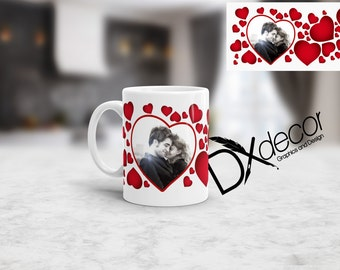 Heart coffee mug, coffee cup, valentines, day,  personalized cup, valentines day gift, tea mug