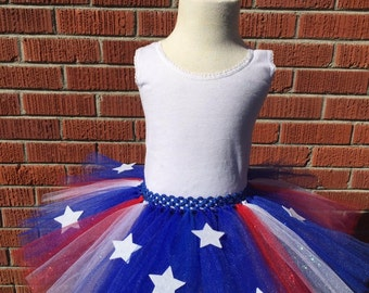 American flag tutu etsy for Patriotic welcome home decorations