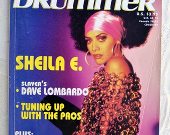 Modern Drummer Magazine/July 1991:  Sheila E. Percussionist for Prince