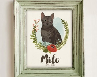 Cat portrait | Etsy