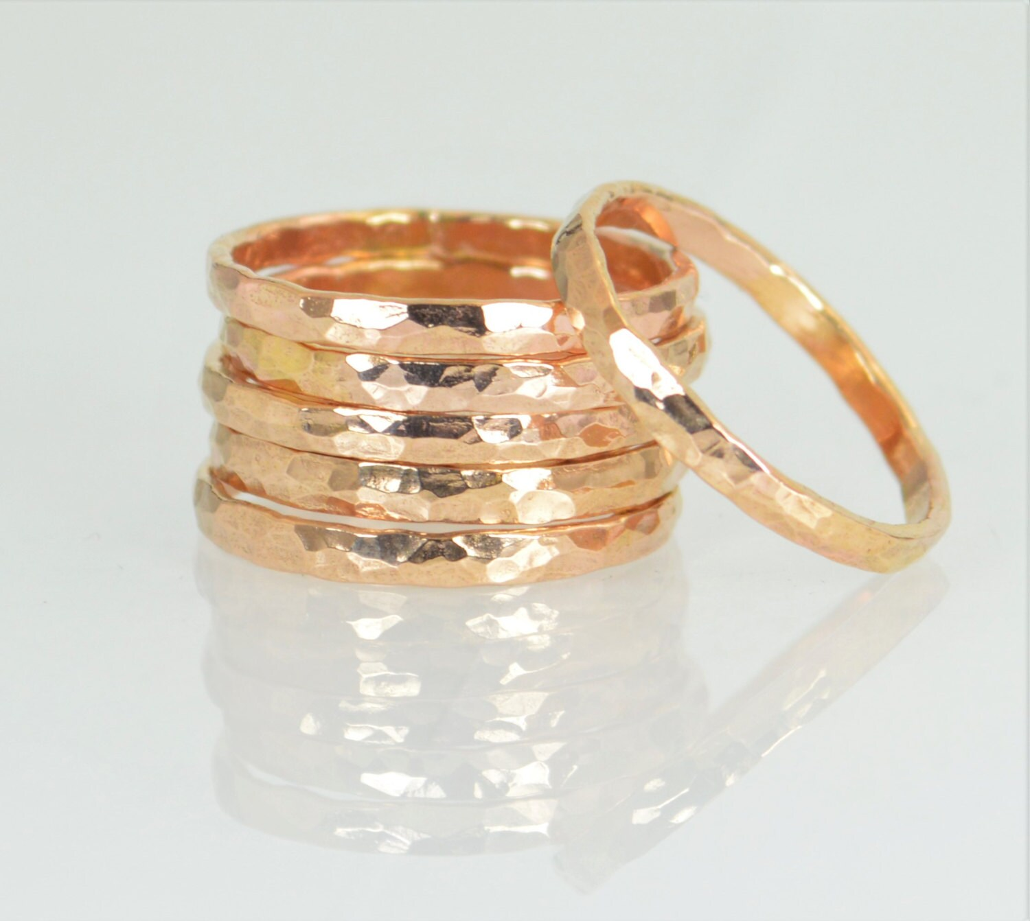 thick 14k gold filled stackable rings 14k gold
