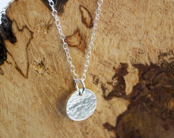 Sterling Silver Small Moon Necklace ~ minimal, modern, delicate, bridesmaid, wedding, moon, lunar, cosmos, astrology, astronomy