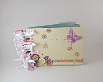 Yellow Scrapbook, Butterfly Scrapbook, Photo Album, Memory Book, Scrapbook Album, Photo Album Scrapbook, Premade Scrapbook, Mini Album