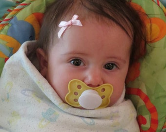 40 Newborn baby girl glue on mini hair bows photo prop