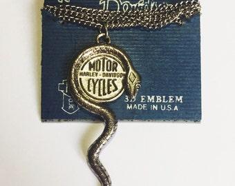 Vintage Harley-Davidson snake collar