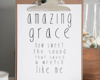 INSTANT DOWNLOAD || Amazing Grace