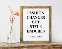 Coco Chanel Print, Inspirational Quote, Motivational Poster, Gift Ideas, Shabby Chic, Wall Art, Home Decor, Typography Print - PT0134