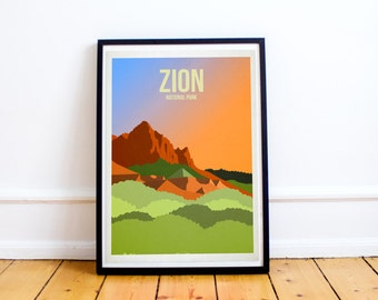 Zion National Park - US National Parks - Art Print - (Available In Many Sizes)