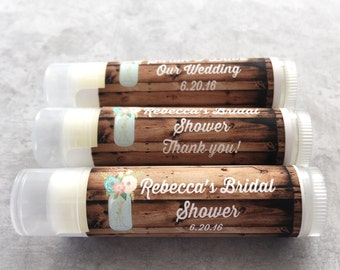 25Pc Rustic Vintage Blooms Wedding Party Favors/Wedding/Bridal/Lip Balm/Engagement Party Favors/Wedding Chapstick/Bridal Shower Favors/Groom