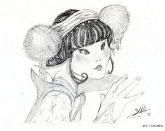 "Illustration ""Chinese Princess"".  REF. LD009"