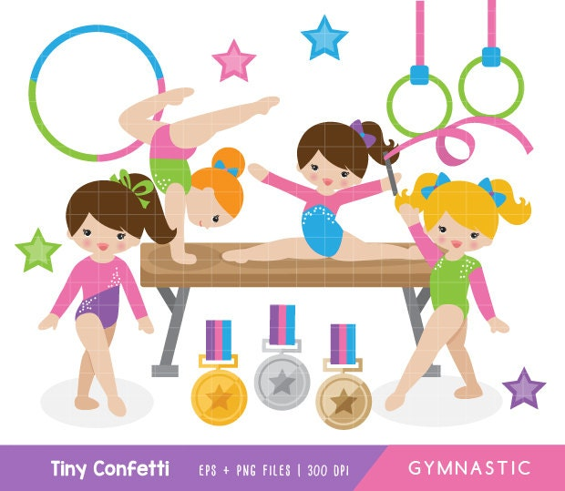 Clip Art Gymnastic Clip Art gymnastic clip art etsy clipart girl gymnasts cute medal balance beam ring commercial