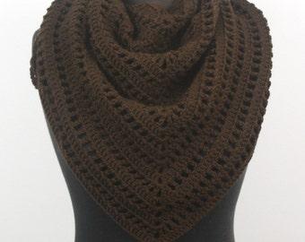 Brown style triangular shawl scarf