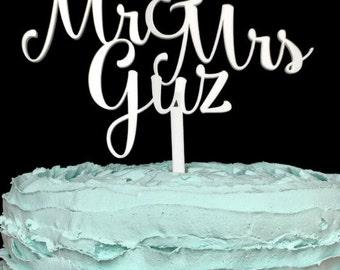 Custom Last Name Wedding Cake Topper, cake topper wedding, custom cake topper, wedding cake topper, custom wedding toppers, wedding toppers