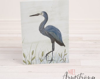 Any Occassion Greeting Card  - Heron Illustration - A6