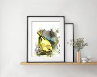 Bird Art Print, Watercolor Painting Print, Bird Watercolor, Yellow Warbler, Wall Art