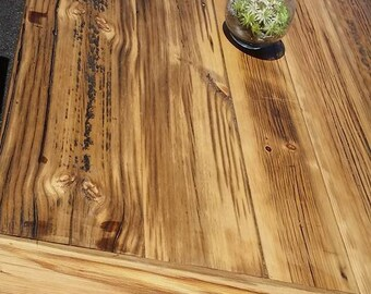 Rustic Trestle X Farmhouse Table built with Reclaimed Barn Wood from 1893