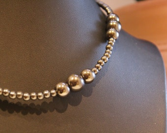 Hematite Beaded Necklace - Shipping Included