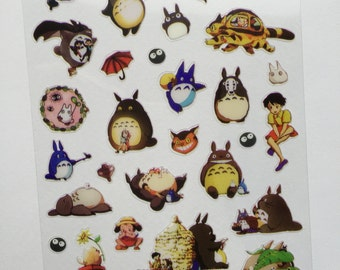 My Neighbour Totoro Mini Stickers, Studio Ghibli Planner Stickers, Diary/Calendar Stickers, Scrapbooking Stickers, Kawaii Deco Stickers