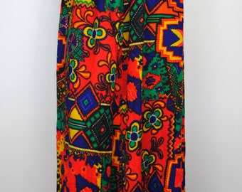 Vintage 60's Psychedelic Maxi Skirt