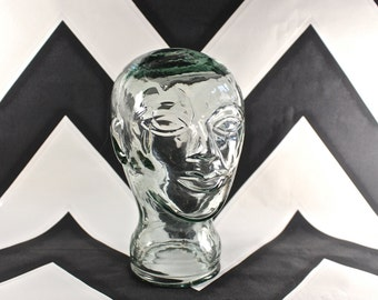 Vintage Glass Mannequin Display Head