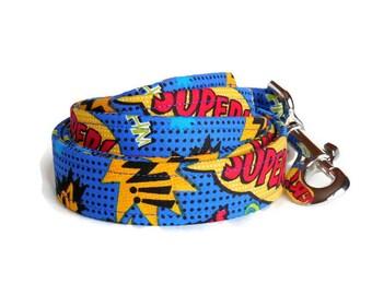 The Super Dog! Superhero / Comic Strip Dog Leash
