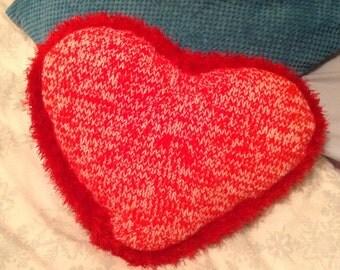 Fluffy Heart Cushion